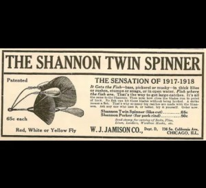 Shannon Twin Spinner ad from 1919 provided by Bill Sonnett.
