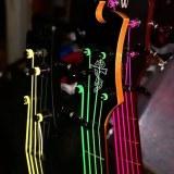 色々な種類のネオン弦