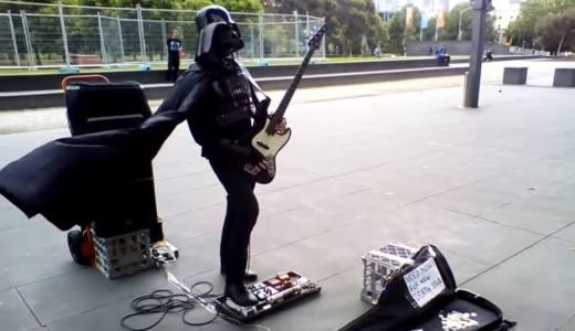 【動画あり】あの暗黒卿「ダース・ベイダー」ベースでGet Lukyを演奏