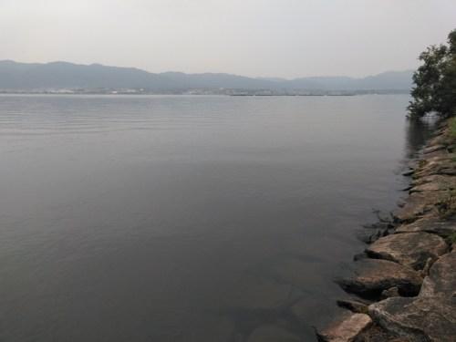 琵琶湖の下物エリア(祭り会場)