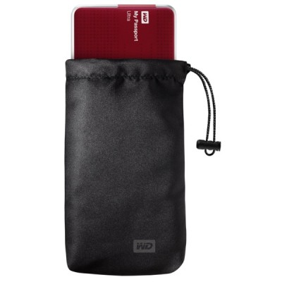 WD MyPassport Ultra Pouch With Red Drive