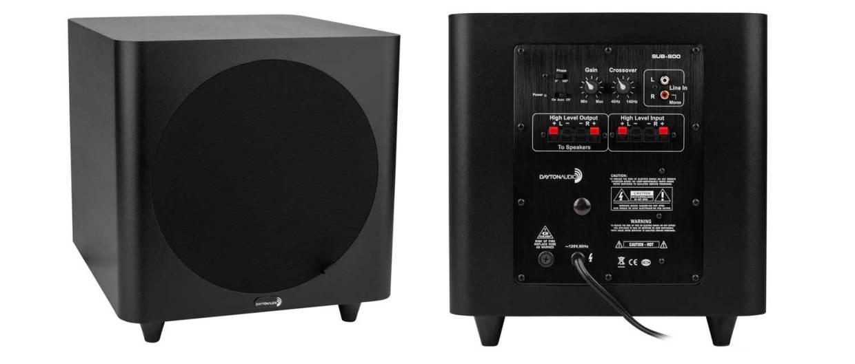 dayton audio sub 800, sub 800 subwoofer, home theater subwoofer, home subwoofer, 10 inch subwoofer