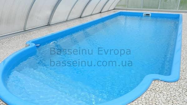 Купить бассейн композитный для дачи с павильоном Винница.