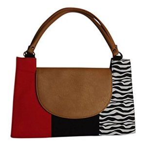 Amma Jo Women's Signature Red/Zebra Handbag Purse