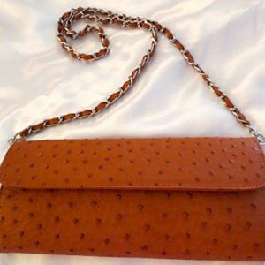 Ostrich Leather Clutch