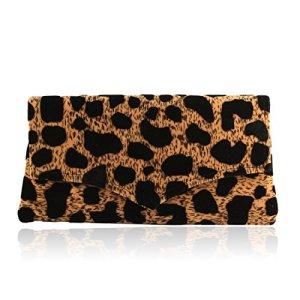 Hand Made Kenyan Leopard Print Envelope Clutch