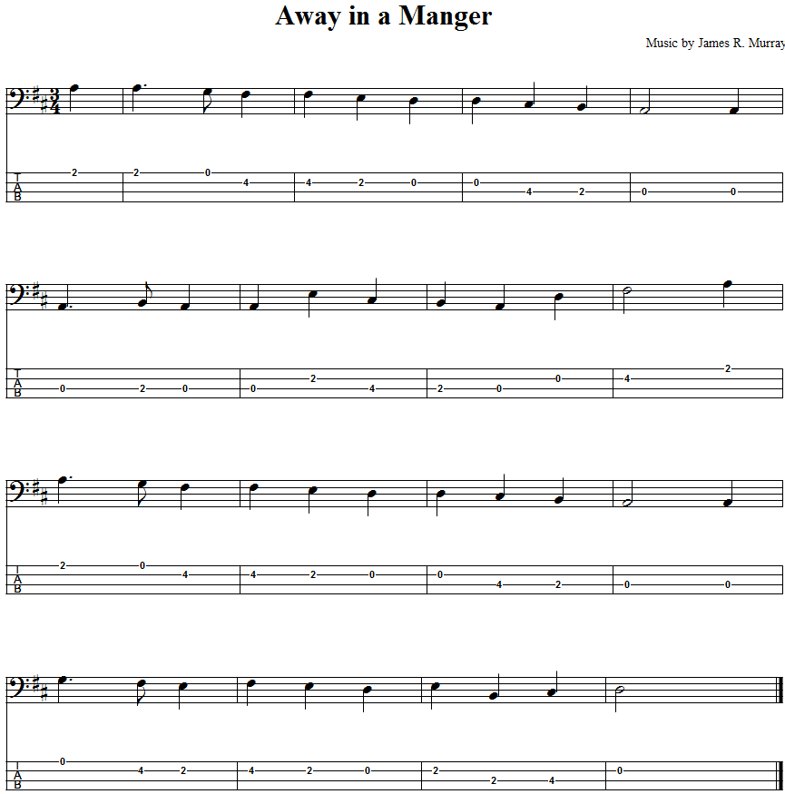 Away Manger Guitar Chords