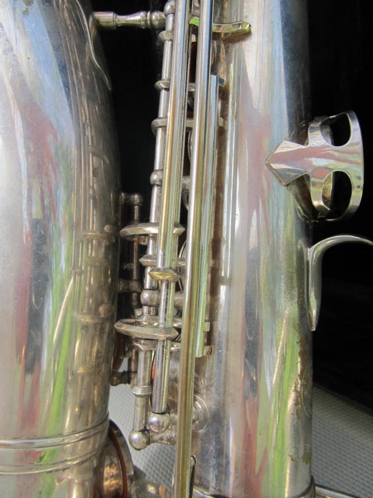 Johannes Adler alto sax, saxophone, Max Keilwerth-made stencil sax, silver-plated,