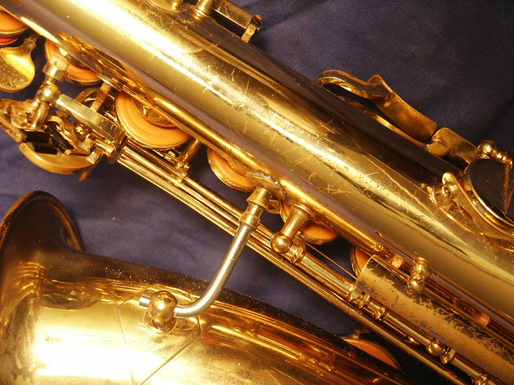 saxophone, bell to body support brace, resolder work on sax, how to buy a used saxophone