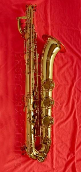 SeaWind prototype baritone sax, baritone saxophone, low A bari sax, Taiwanese saxophone, prototype saxophone,