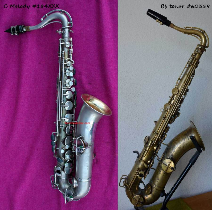 How can you tell a C melody from a Bb tenor sax, King C melody sax, King tenor sax,