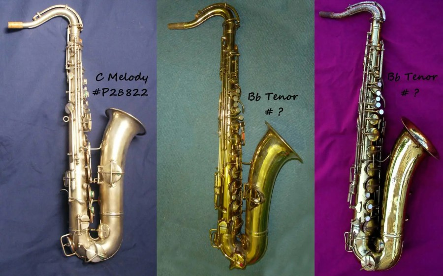 How can you tell a C melody from a Bb tenor sax, Pan American C melody sax, Pan American tenor sax