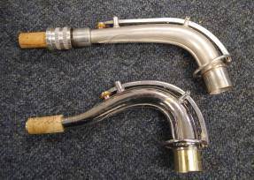 Top: Neck from Conn 8M Bottom: Neck from A.E. Sax C Tenor