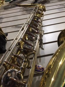 blue label on B&S tenor sax