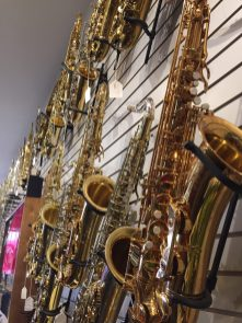 saxophone display wall