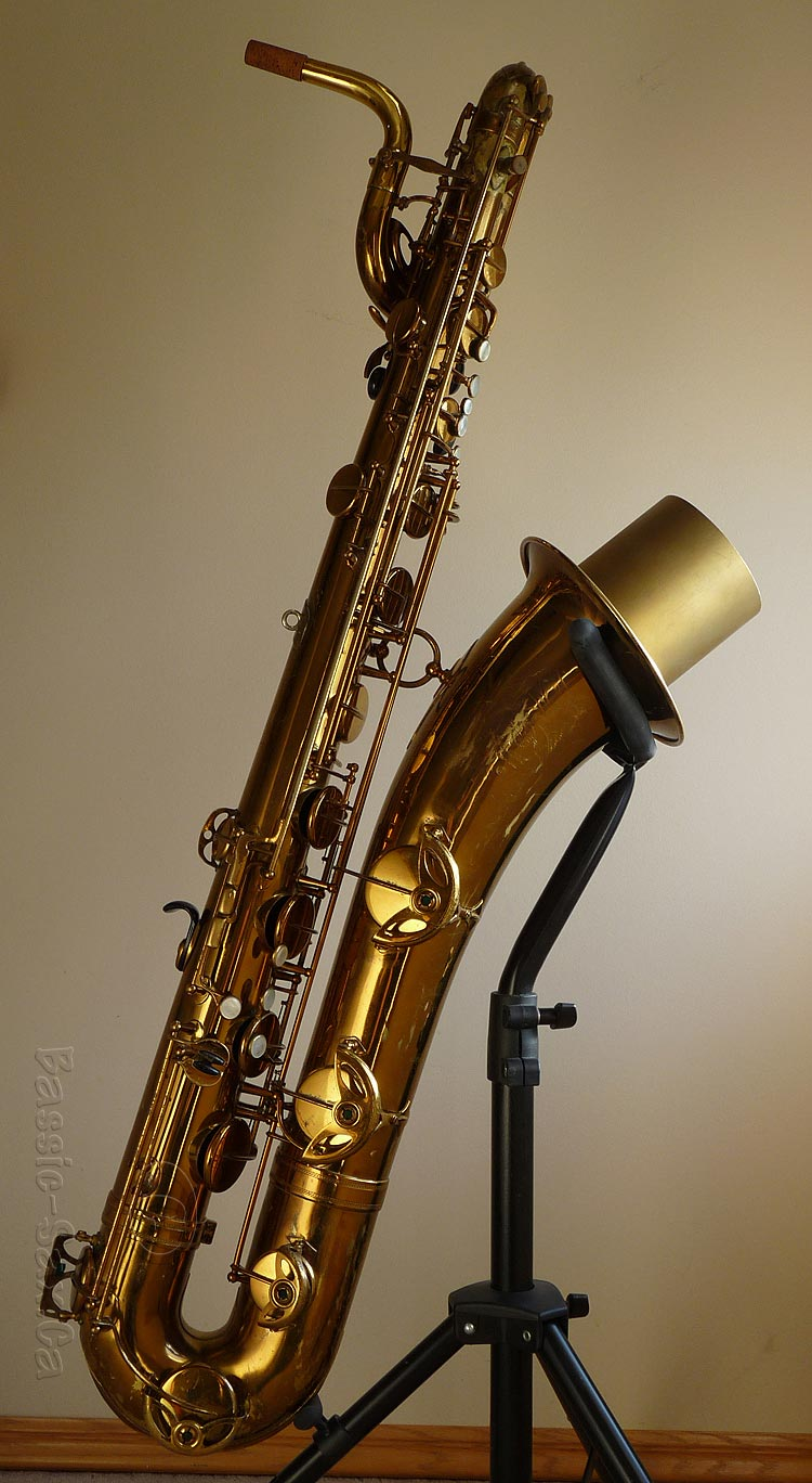 Selmer Mark VI low Bb baritone with low A extension, baritone sax,