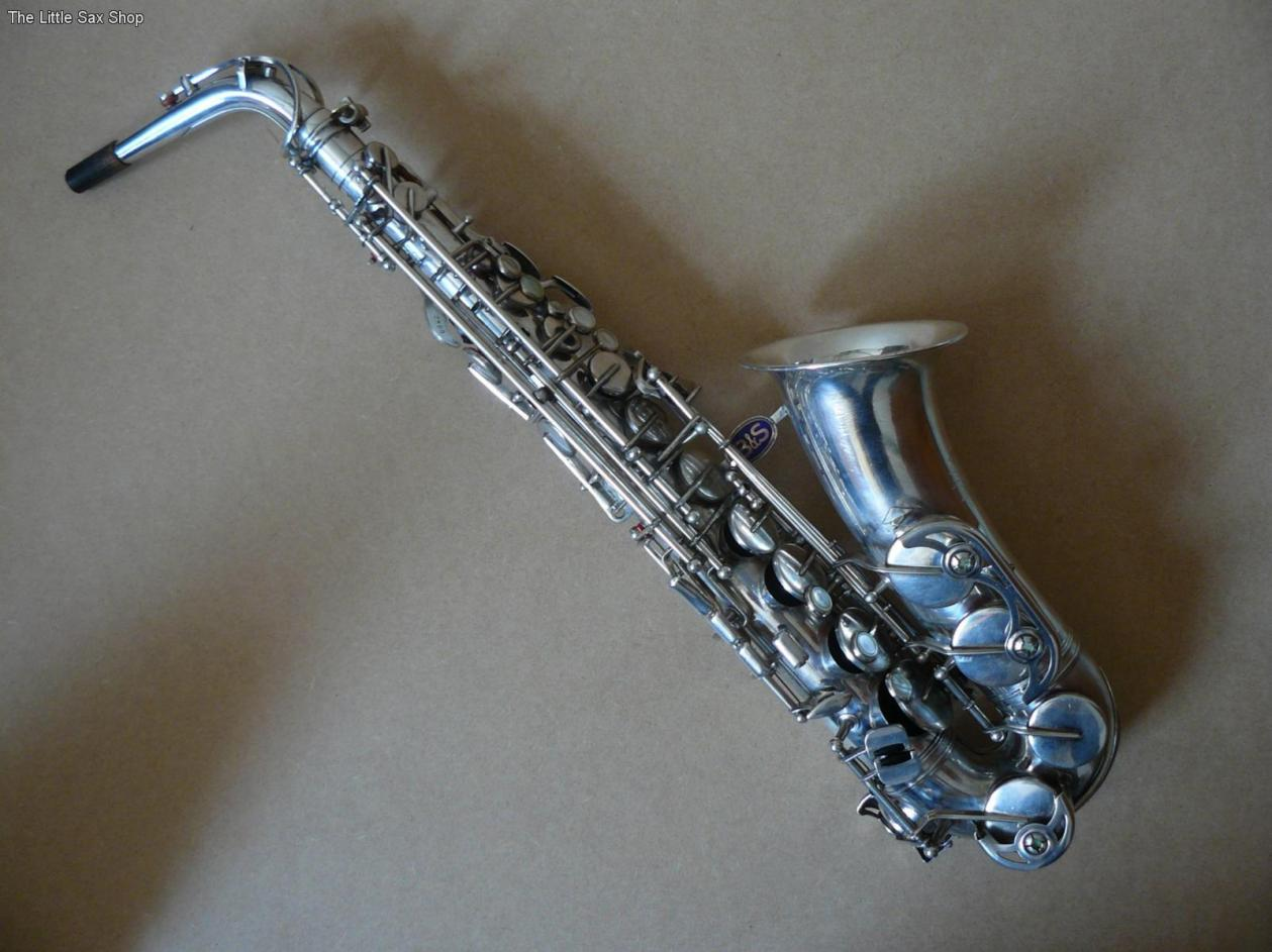 B&S blue label, alto sax, silver saxophone , vintage East German sax, DDR