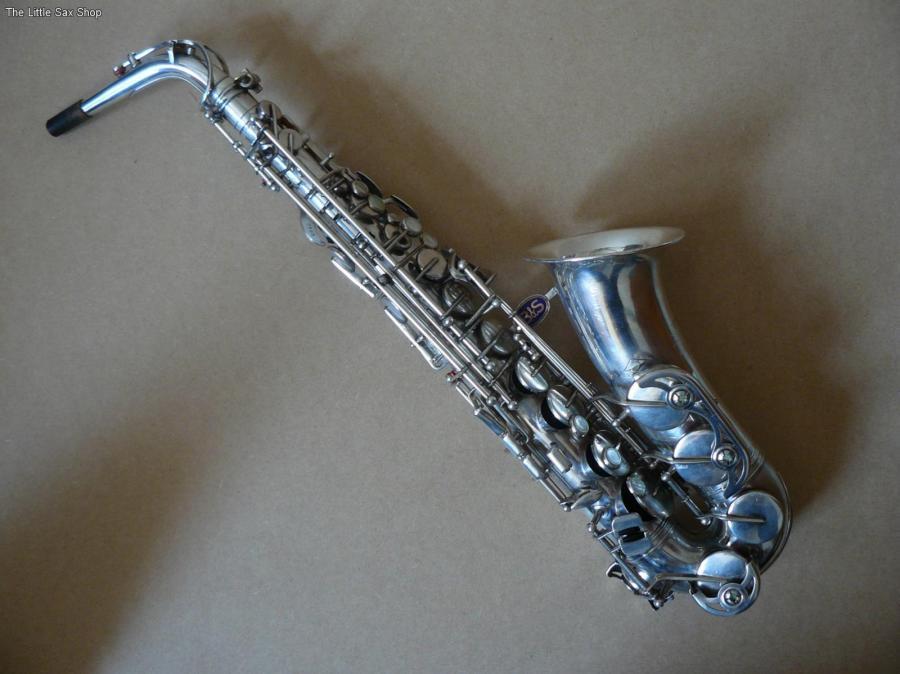 B&S blue label, alto sax, silver saxophone , vintage East German sax, DDR