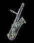 bass sax, thumbnail image, white, black background