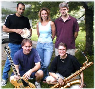 First Cool Hive, band members, baritone saxophone, guitar, men women, musicians