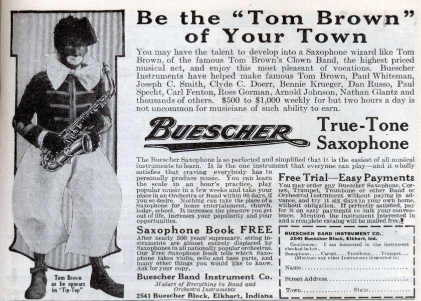 Oct. 1923 Buescher Ad Smaller