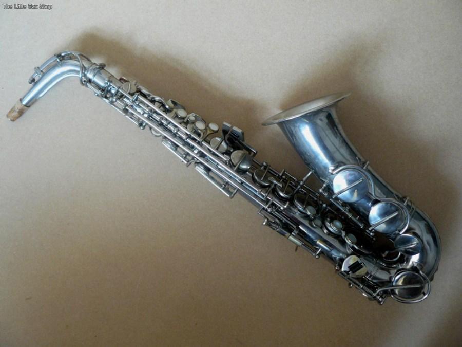 saxophone, Werner Roth, (WERO), silver, vintage German, eye brow key guards