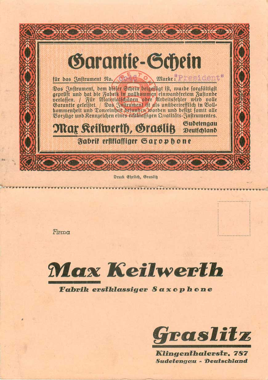Max Keilwerth, vintage, German, saxophone, President model