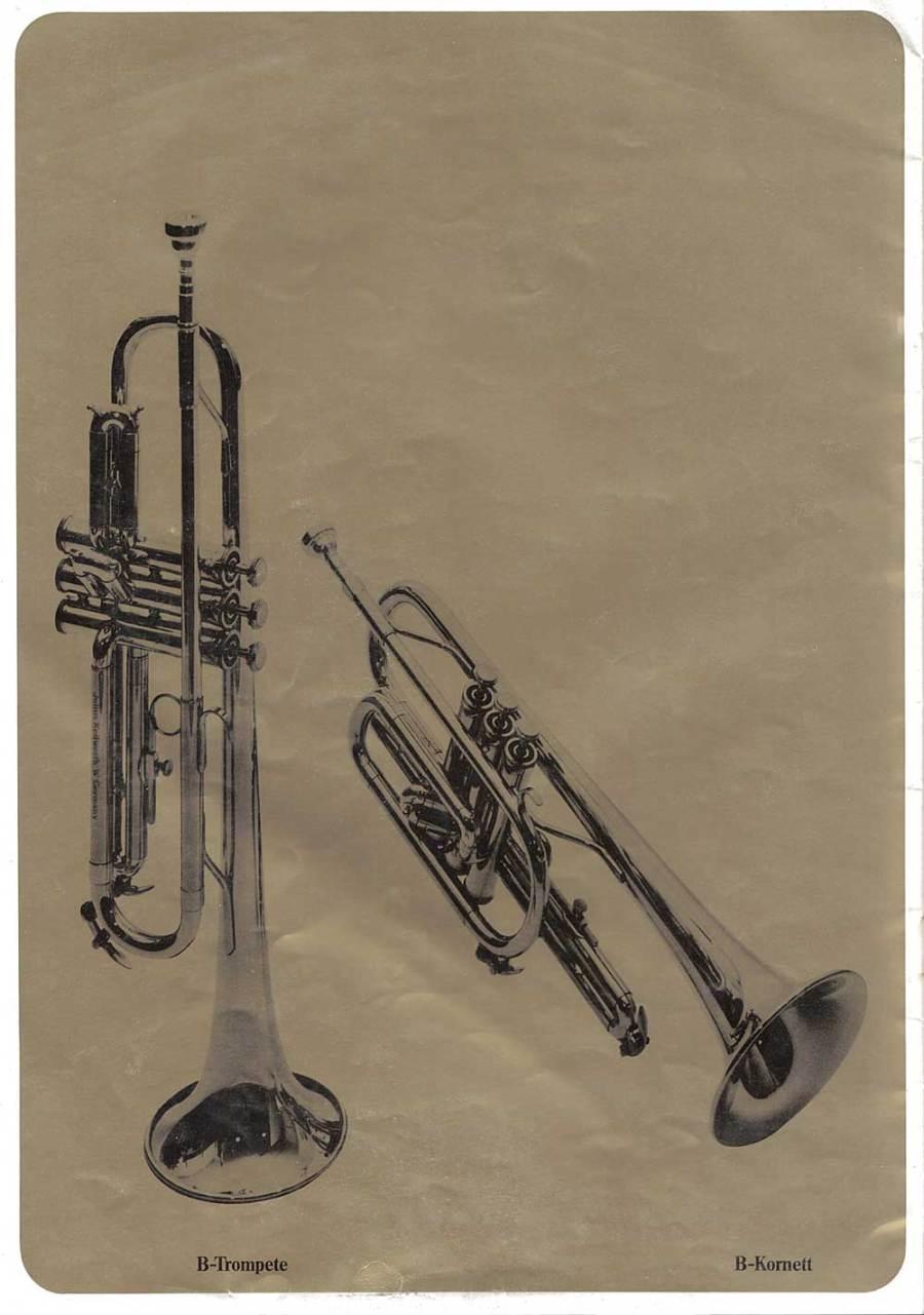 Julius Keilwerth, vintage catalogue, 1979, page 15, trumpets, black, gold