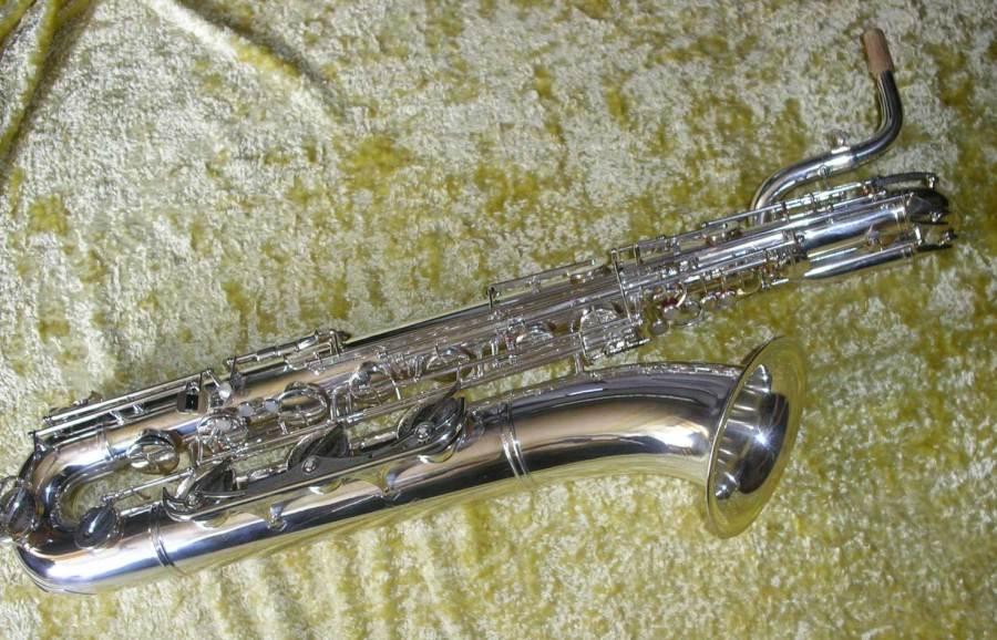 weltklang, baritone saxophone, silver plated, bari sax, vintage, German Sax, DDR
