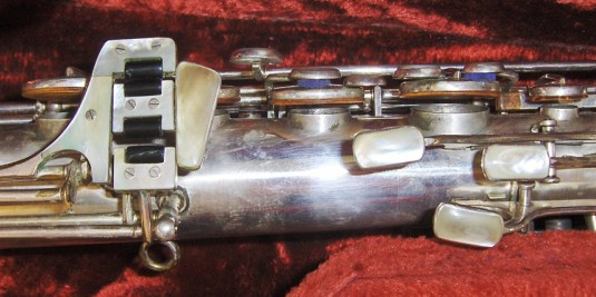 tenor sax, saxophone keys, mother of pearl key touches, vintage, German, Weltklang, DDR, silver plated