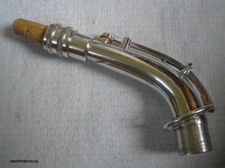 saxophone neck, alto sax neck, microtuner, silver plated, vintage