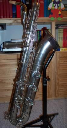 baritone saxophone, vintage bari sax, Weltklang, German, DDR, silver plated