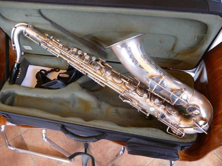 tenor sax, Wolfram saxophone, MIGMA, silver sax, vintage, East German saxophone,