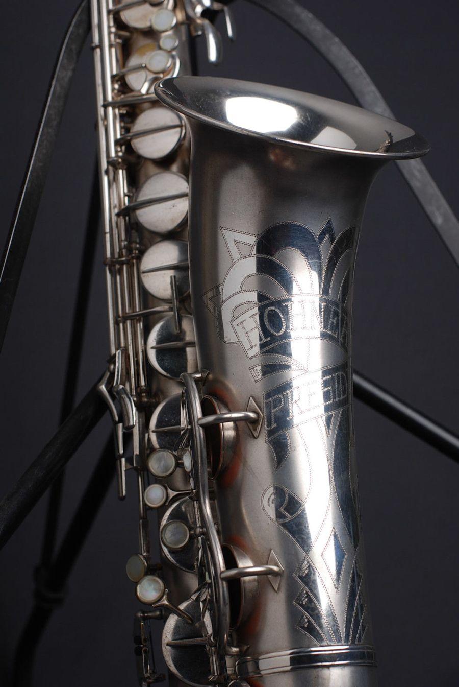 Hohner President, tenor sax, vintage sax, German sax, Max Keilwerth, saxophone, bell engraving