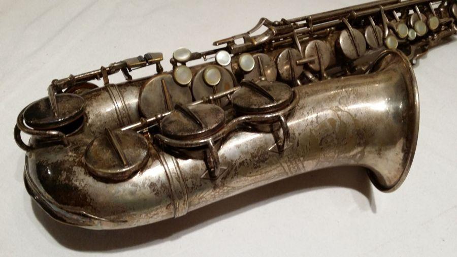 Hohner President, alto sax, vintage sax, German sax, Max Keilwerth, saxophone, tarnished sax, silver sax