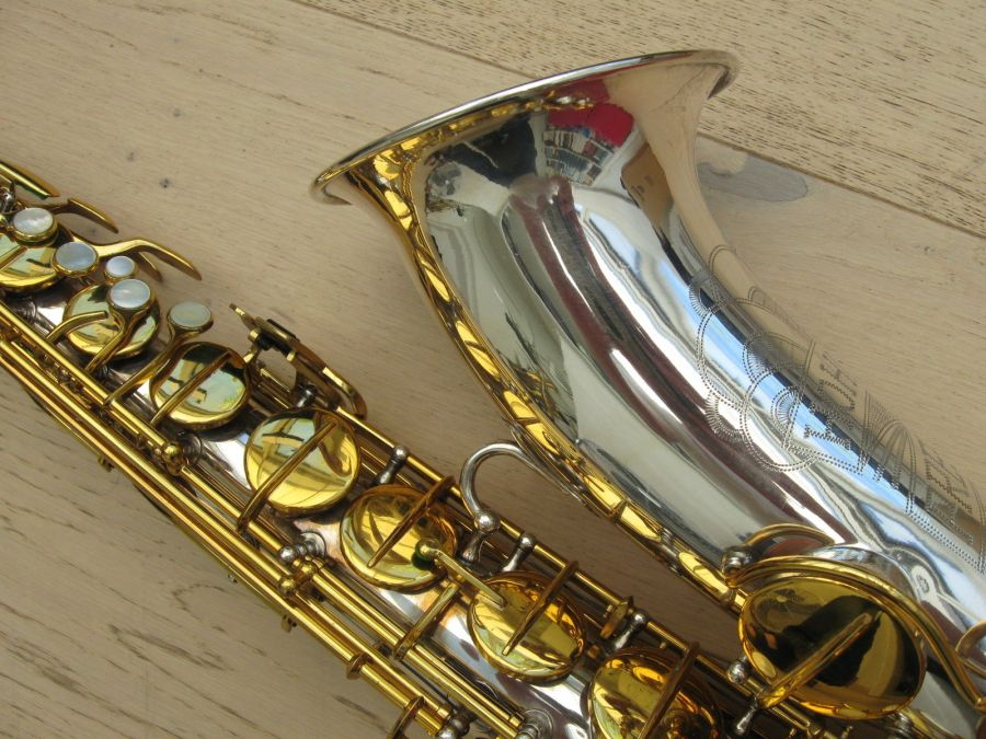 Hohner President, tenor sax, vintage sax, German sax, Max Keilwerth, saxophone, saxophone keys, bell to body support brace