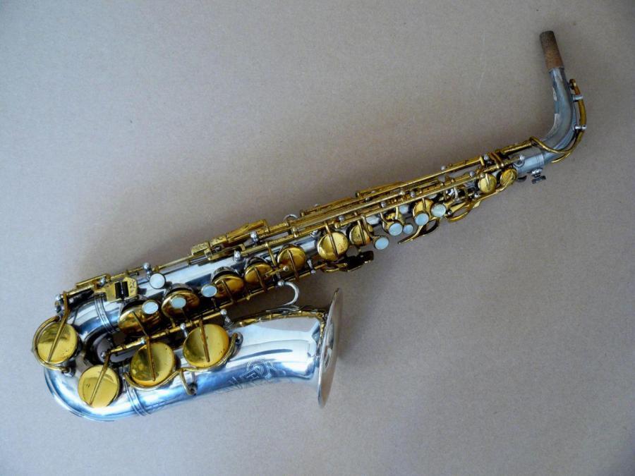 Hohner President, alto sax, vintage sax, German sax, Max Keilwerth, saxophone, silver plated sax with lacquer keys