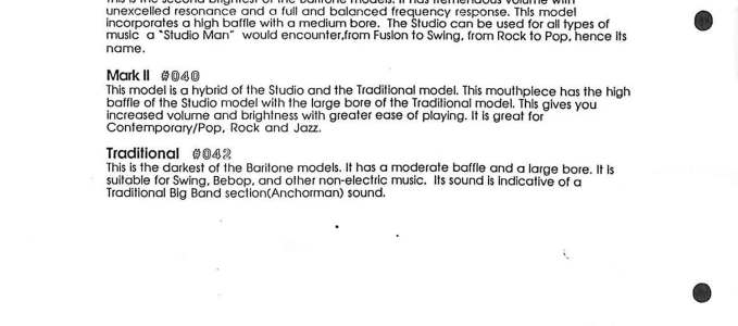 1994 Brochure: FatBoy® Price List