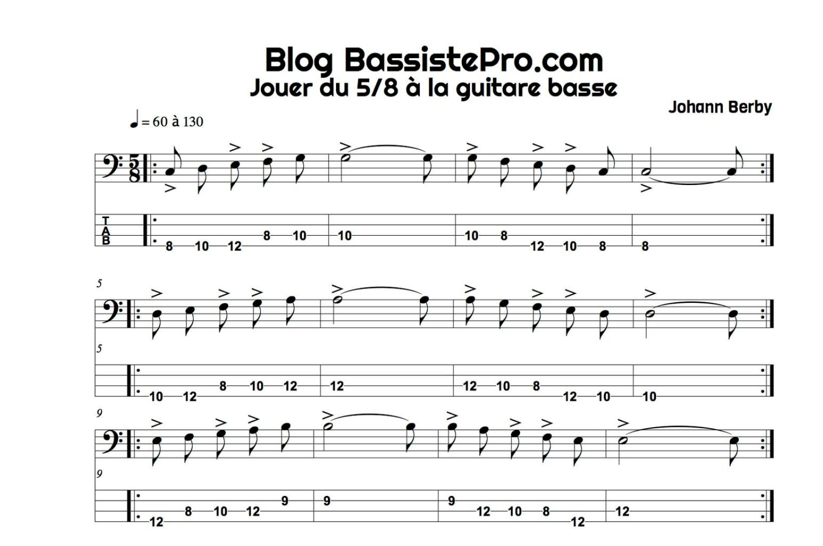 5 8 guitare basse