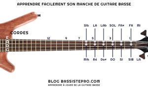 Apprendre facilement son manche de guitare basse