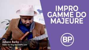 Gamme majeure Improvisation exercice #1 Bass solo