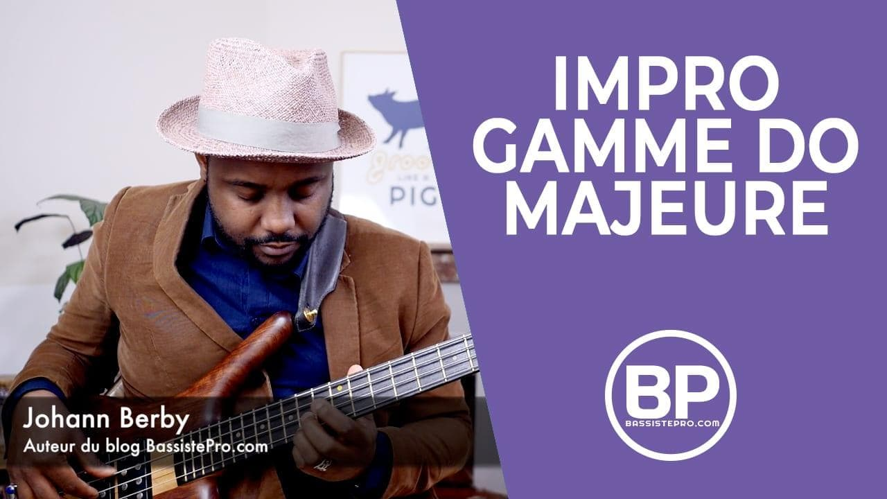 Impro improvisation Gamme majeure exercice #1 Bass solo