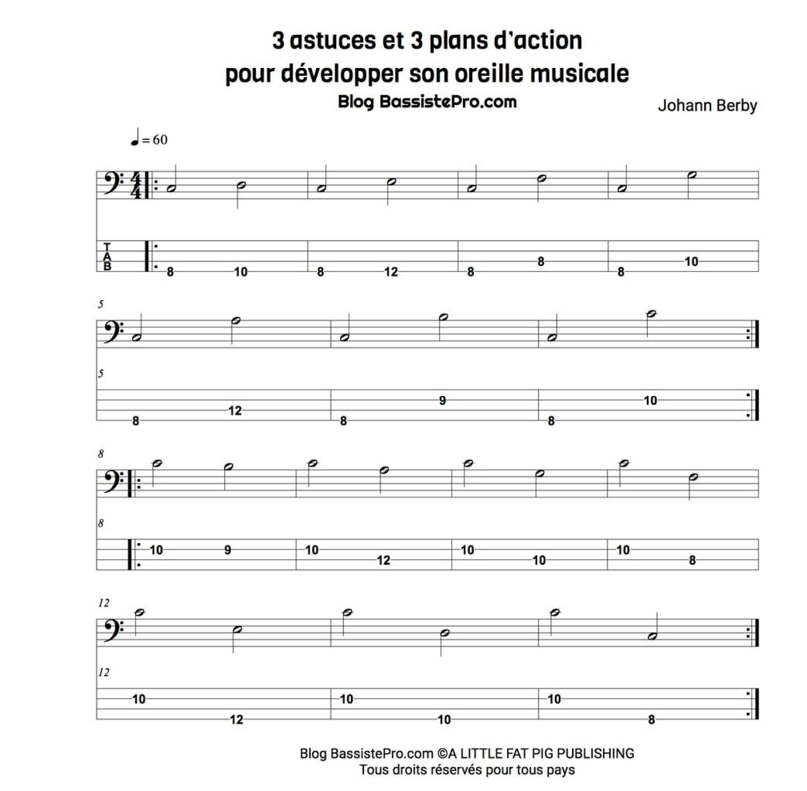developper son oreille musicale partition