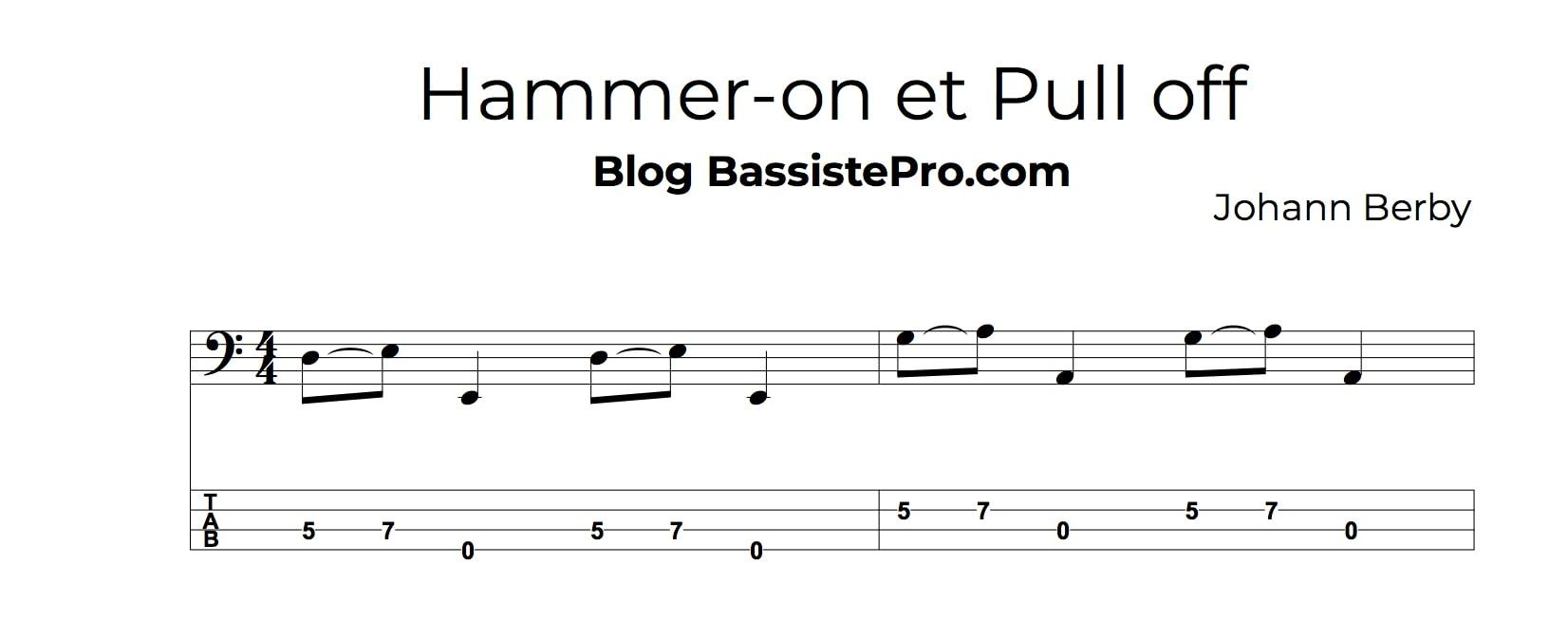 technique hammer-on et pull off - hammer-on 1