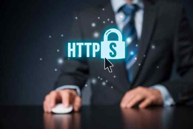 representation of the HTTPS and the padlock
