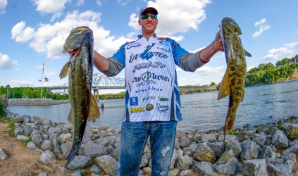 Livingston pro Andy Morgan shows off a pair of Pickwick pigs. Photo by Joel Shangle.