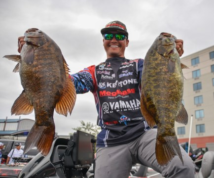 Trokar pro Chris Zaldain with 26.1 pounds of Mille Lacs monsters. Photo by Joel Shangle.