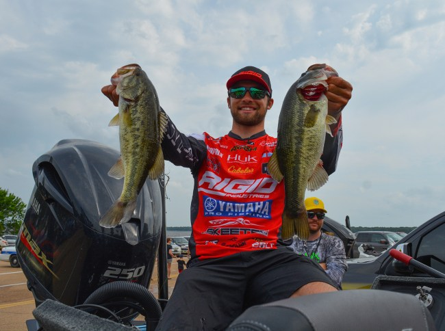 5. I can tell that the rest of the Elite Series field is nervous that Rigid pro Brandon Palaniuk has matured into a consistent Top 10 guy. He's always had the ability to win tournaments, but now you throw in AOY-level consistency? Yeah, no thanks, I don't want any part of a head-to-head with BP. Photo by Joel Shangle.