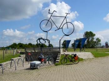 Ein Denkmal für Radfahrer