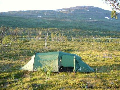 Zelten auf der Grenze